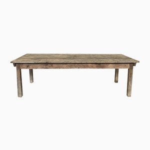 Antique Wooden Farm Dining Table