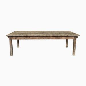 Table de Salle à Manger de Ferme Ancienne en Bois