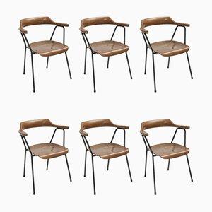 Vintage Modell 4455 Esszimmerstühle von Niko Kralj für Stol Kamnik, 6er Set