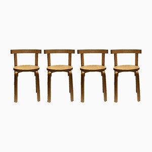 Schwedische Mid-Century Esszimmerstühle, 4er Set