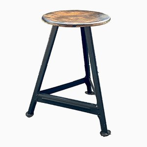 Vintage Industrial Three-Legged Stool
