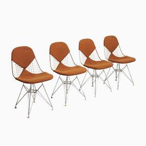 Mid-Century Bikini Esszimmerstühle von Charles & Ray Eames für Herman Miller, 4er Set