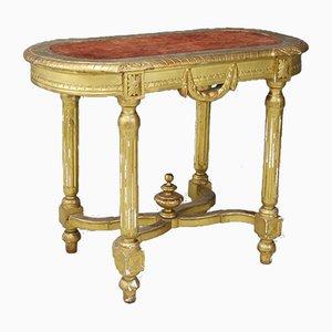 Consola antigua de madera dorada