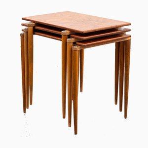 Tables Gigognes Empilables d'Opal Möbel, années 60, Set de 3