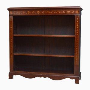 Antique Mahogany Open Bookcase