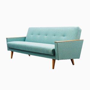 Petrol Blue Folding Sofa, 1960s