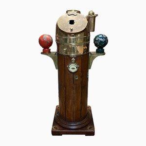 Vintage Marine Kompassbehälter von Cooke