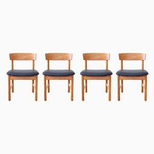 Esszimmerstühle von Børge Mogensen für Fredericia, 1960er, 4er Set