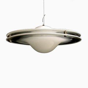 Lampada da soffitto vintage in vetro di Mazzega