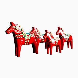 Swedish Dala Horses from Nils Olsson, 1960s, Set of 4