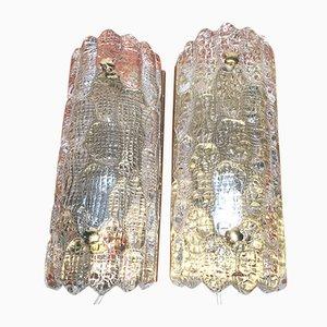 Lámparas de pared de Carl Fagerlund para Orrefors, años 60. Juego de 2