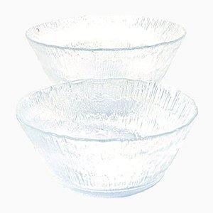 Cuencos de vidrio de Tapio Wirkkala para Iittala, años 70. Juego de 2