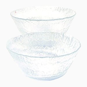 Glass Bowls by Tapio Wirkkala for Iittala, 1970s, Set of 2