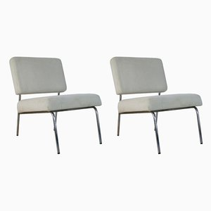 French Easy Chairs, 1960s, Set of 2