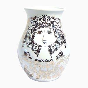 Jarrón de cerámica de Bjørn Wiinblad, años 90