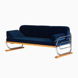 Art Deco Couch aus Stahlrohr von Hynek Gottwald, 1930er