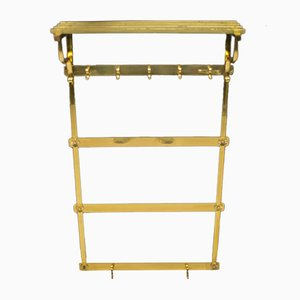 Vintage Brass Wall Rack, 1960s