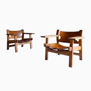 Armchairs by Børge Mogensen, 1960s, Set of 2