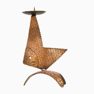 Copper Fish Candleholder, 1960s