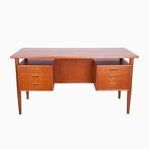 Freestanding Teak Desk by A. Vodder, 1960s