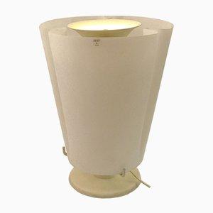 Lámpara de mesa grande de cristal de Murano opalino, años 70