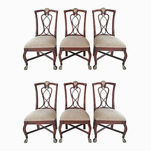 American Cane, Aluminium & Leather Dining Chairs from Casa Bique, 1980s, Set of 6