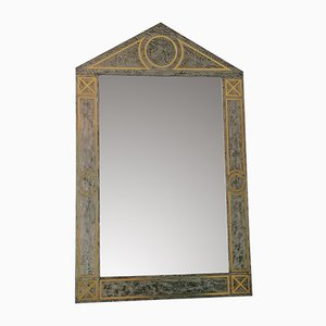 Large American Metal-Framed Wall Mirror, 1980s