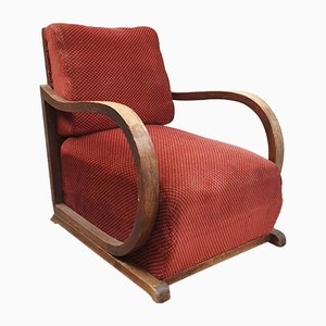 Austrian Art Deco Fabric Armchair, 1931