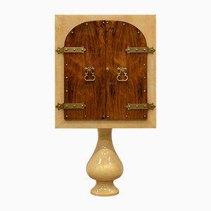 Mueble bar de piel de cabra y palisandro de Aldo Tura, años 60