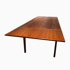 Mid-Century Dutch Teak Extendable Dining Table