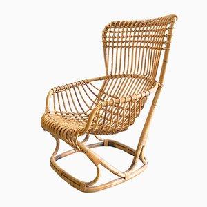 BP4 Wicker Lounge Chair by Tito Agnoli for Vittorio Bonacina, 1950s