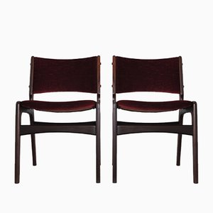 Chaises de Salle à Manger en Teck par Erik Buch pour Oddense Maskinsnedkeri / O. D. Møbler, années 60, Set de 2