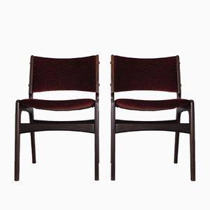 Esszimmerstühle aus Teak von Erik Buch für Oddense Maskinsnedkeri / OD Møbler, 1960er, 2er Set