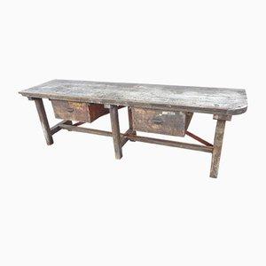Tavolo da lavoro vintage in quercia