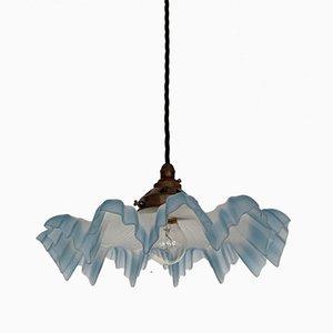 Lámpara de techo vintage con volantes en azul