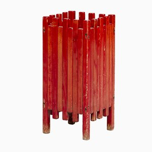 Italian Painted Wood Umbrella Stand by Ettore Sottsass for Poltronova, 1980s