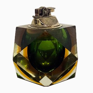 Italian Green Murano Glass Submerged Lighter, 1960s