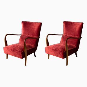 Italian Modern Armchairs, 1950s, Set of 2