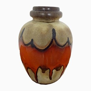 Große Fat Lava Keramikvase von Scheurich, 1970er