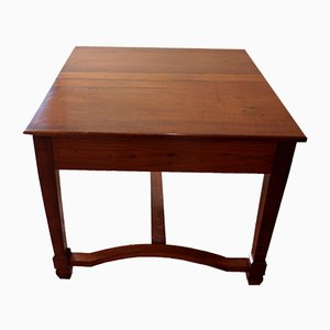 Antique Italian Cherry Wood Extendable Dining Table
