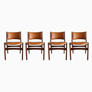 Chaises de Salle à Manger Modèle 89 en Palissandre par Erik Buch pour Anderstrup Stolefabrik, Danemark, années 60, Set de 4