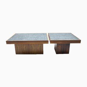 Tables Basses Carrées en Palissandre par Heinz Lilienthal, années 60, Set de 2