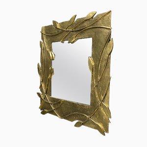 Vintage Italian Brass Mirror, 1970s