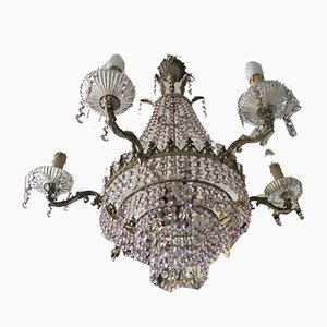 Pink Crystal Chandelier, 1960s