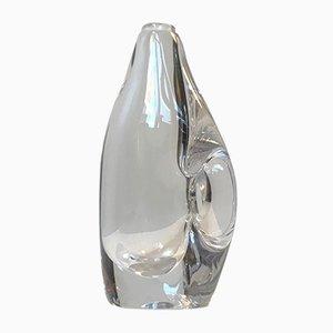 Vase en Cristal Translucide par Daum pour Daum, années 50