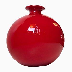 Vase Carnaby Rouge par Per Lütken pour Holmegaard, années 70