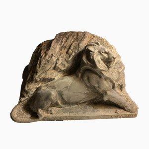 Escultura de león Belfort de Marc Schmitt, años 30