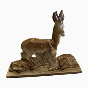Deer Sculpture from Charles Lemanceau, 1930s