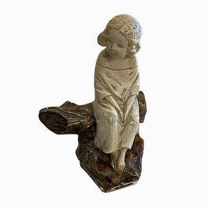 Antike Kinderskulptur von Michel Pascal