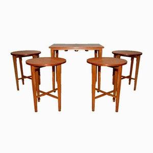 Tavolini ad incastro di Poul Hundevad per New Home, anni '60, set di 5